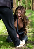 Cute slave getting dominated and crying for mercy her boss